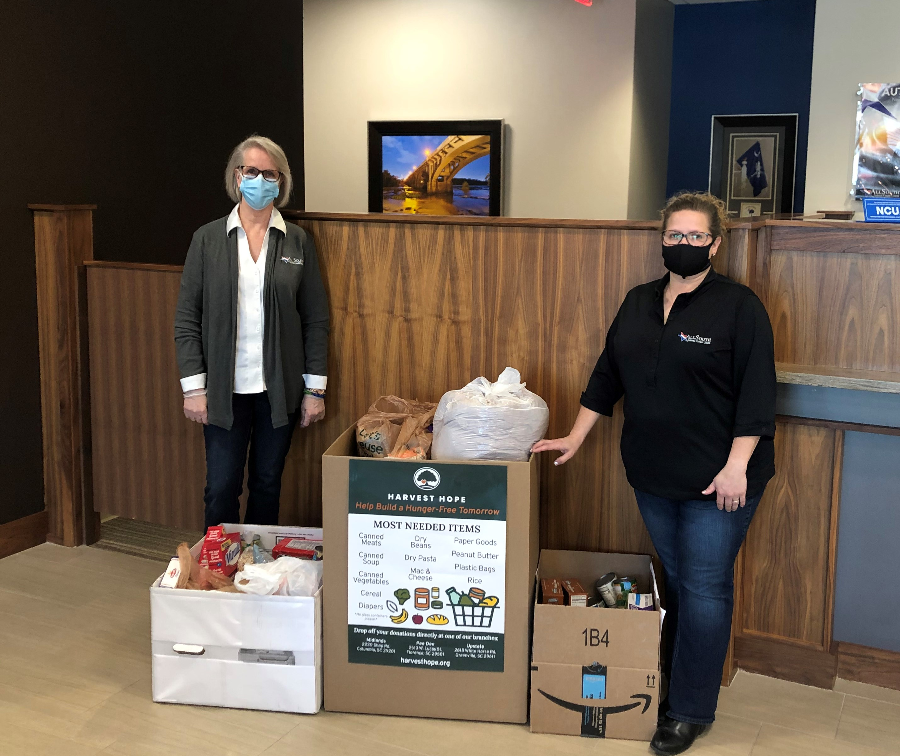 Food drive with AllSouth employees